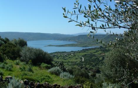 Sedilo, veduta panoramica lago Omodeo