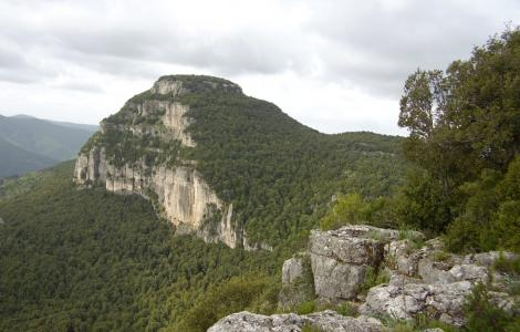 Ulassai, vista panoramica dei Tacchi