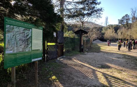 Pannello informativo presso Maidopis, Settefratelli (foto Alessio Saba)