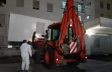 Logistica Protezione Civile: intervento Forestas per Ospedale Civile di SS