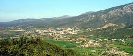 Nuxis, panorama da Pranedda