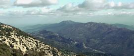 Siniscola, veduta del monte Albo