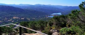 Veduta dalla vedetta, lago di Gusana e monti Ovodda (foto F.Orrù)
