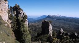 Montes, panorama verso il Supramonte di Oliena