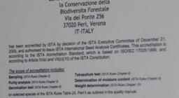 primo certificato ISTA Peri