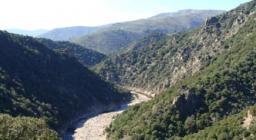 scorcio del Rio Nuxi tra i monti