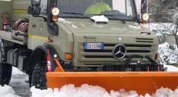emergenza neve intervento EFS Tempio - dettaglio mezzo PC