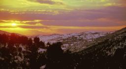 Pattada, Monte Lerno al tramonto