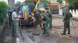 Intervento di Protezione Civile- Ripulitura strade con terna e mini-terna