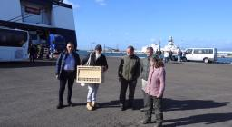 L'arrivo dell'aquila dalla Sicilia al porto di Cagliari (maggio 2019)