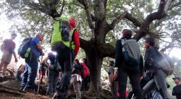 un'istantanea durante la visita al bosco di Tuviois