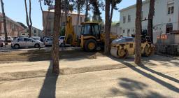 Intervento mezzi Forestas spianata ospedale Is Mirrionis-2020-04-10