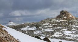 Nuraghe Ruinas e Perda Liana con la neve (foto D.Secci)
