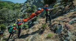 operazioni recupero feriti in montagna (foto CNSaSS)