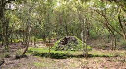 carbonaia didattica presso foresta di Pau