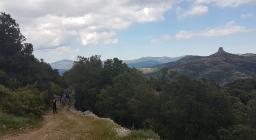 Studenti di Palermo in visita alle foreste sarde - verso Perda Iliana