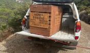 Il mezzo e utilizzato per il trasporto dell'aquila liberata sul linas 23.9.21