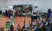 allestimento mostra itinerante in una scuola (foto Pierpaolo Mocci)