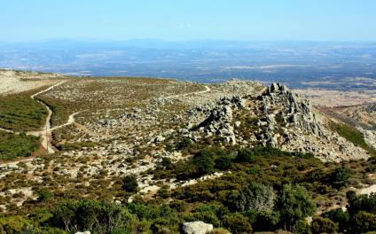S.Lussurgio, Vista dal versante est di Monte Urtigu (foto A.Saba)